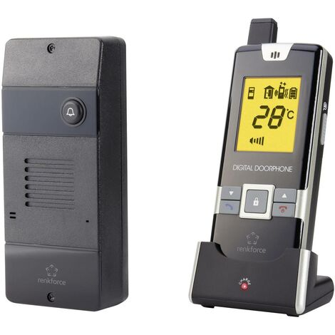 Set complet d'Interphone radio 1 foyer Renkforce 1168614 noir Q868911