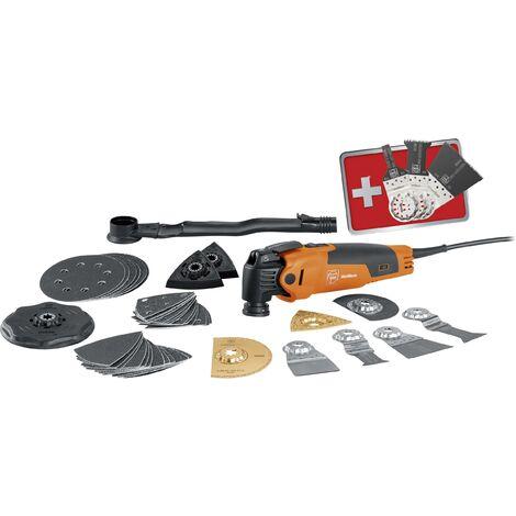 Outil multifonction Fein FMM 350 QSL 72295268000 + accessoires, + mallette 46 pièces 350 W W011351