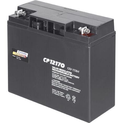 Batterie au plomb 12 V 17 Ah Conrad energy CP12170 plomb (AGM) (l x H x P) 181 x 167 x 76 mm raccord à vis M5 sans entretien A37591