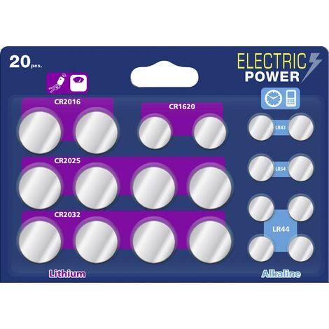 Jeu de piles bouton Electric Power 1587232 20 pc(s) S645251