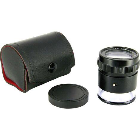 Ideal Tek LE-003 Loupe à main avec éclairage, avec échelle de mesure Grossissement: 10 x noir X152181