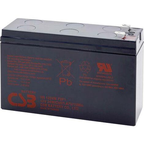 Batterie au plomb 12 V 5.8 Ah CSB Battery HR 1224W high-rate HR1224WF2F1 (l x H x P) 151 x 98 x 51 mm cosses plates 6,35 mm 1 pc(s) X843261