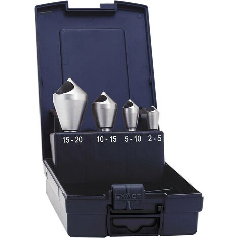 Fraises à trou transversal 90° Exact 05426 4 pièces N/A Ø de perçage:Ø 5/10/15/20 mm tige cylindrique C55813
