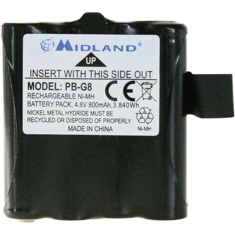 Batterie pour talkies-walkies NiMH 4.8 V Midland C881 800 mAh R25647