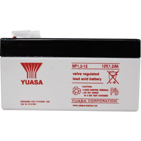 Batterie au plomb 12 V 1.2 Ah Yuasa NP1.2-12 (l x H x P) 97 x 55 x 48 mm cosses plates 4,8 mm 1 pc(s) A37695