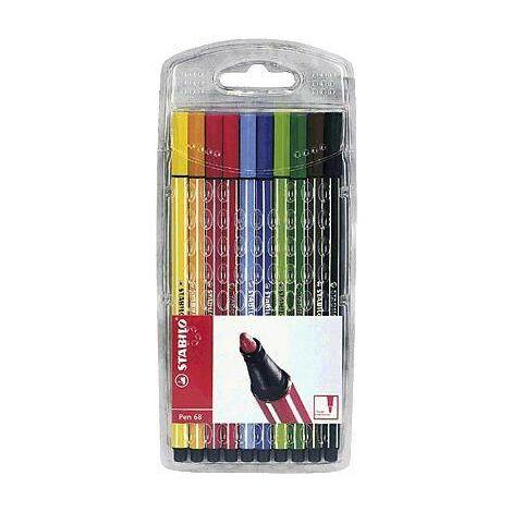 Stabilo Feutres STABILO Pen 68 6810/PL couleurs diverses 1 mm 10 pc(s)/emb. 10 pc(s) Y26767