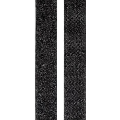 Bande auto-agrippante TOOLCRAFT KL25X2000C KL25X2000C à coller partie velours et partie agrippante (L x l) 2000 mm x 25 mm noir 1 paire(s) W90033