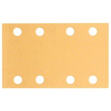 Papier abrasif pour ponceuse vibrante avec bande auto-agrippante, perforé Bosch Accessories 2608607230 Grain 80 (L x l) 133 mm x 80 mm 10 pc(s) S74822