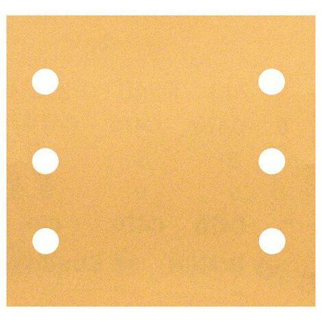 Papier abrasif pour ponceuse vibrante avec bande auto-agrippante, perforé Bosch Accessories 2608607460 Grain 240 (L x l) 107 mm x 115 mm 10 pc(s) S76721