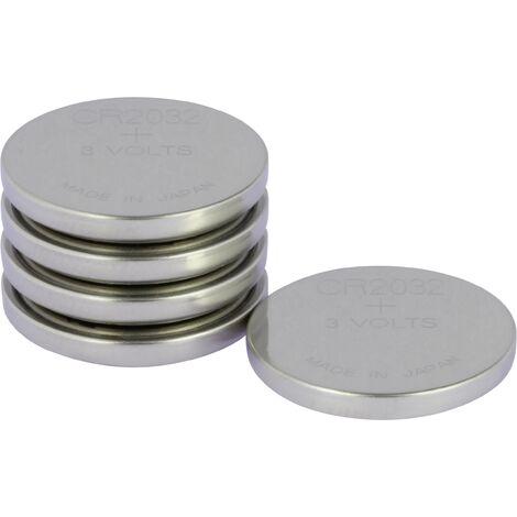Pile bouton CR 2032 lithium GP Batteries 220 mAh 3 V 5 pc(s) S161631