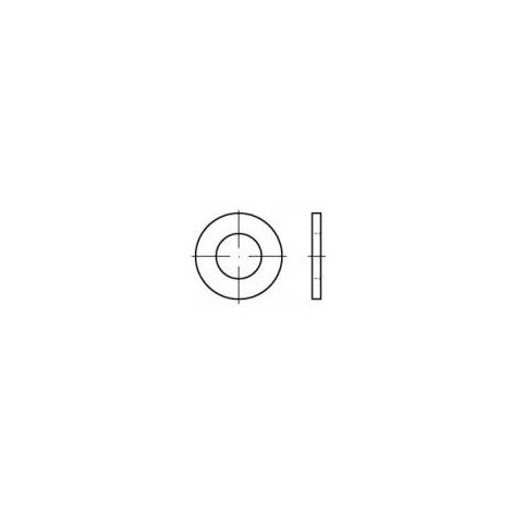 Rondelle TOOLCRAFT 105350 N/A Ø intérieur: 5.3 mm acier 100 pc(s) Q73237