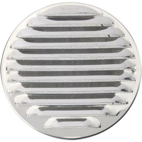 Wallair N31841 Grille d'aération acier inoxydable Convient pour Ø de tube: 16 cm S87569