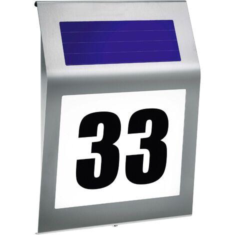 Esotec Style 102031 Eclairage solaire pour numéro de maison blanc chaud, blanc froid acier inoxydable S44333