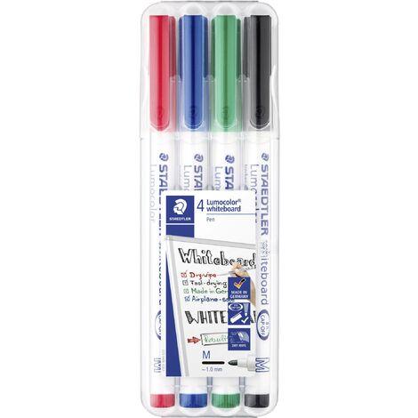 Marqueur tableau blanc 4 pc(s)/emb. Staedtler Lumocolor whiteboard pen 301 301 WP4 noir, rouge, bleu, vert 4 pc(s) D081431