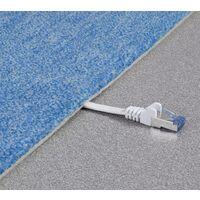 Renkforce RF-4149837 RJ45 Câble réseau, câble patch CAT 6a U/FTP 0.50 m blanc très flexible, avec cliquet d'encastrement, ignifuge 1 pc(s) Y625401