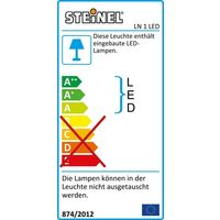 Eclairage LED pour numéro de maison Steinel LN 1 LED 649715 LED intégrée blanc Y060581