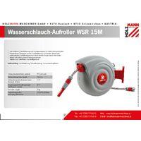 Dévidoir de tuyau 1/2 pouces Holzmann Maschinen WSR15M 15 m gris, rouge W636121
