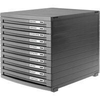 HAN CONTUR 1510-191 Caisson à tiroirs gris foncé DIN A4, DIN B4, DIN C4 Nombre de tiroirs: 10 S169191