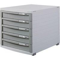 HAN CONTUR 1505-19 Caisson à tiroirs gris clair DIN A4, DIN B4, DIN C4 Nombre de tiroirs: 5 S169811