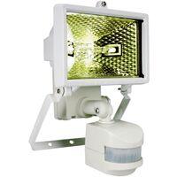 Projecteur extérieur avec détecteur de mouvements 120 W 1x R7s Durée réglable de 6 s à 10 min. ES120W blanc 1 pc(s) D34519