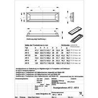 Cadre avant Strapubox AR 3,5 A noir Adapté pour: écran LCD à 3.5 caractères plastique 1 pc(s) Q16371