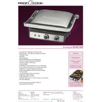 Grill à contact Profi Cook PC-KG 1029 acier inoxydable, noir Y06113