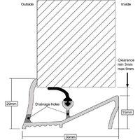 Lowline Door Threshold Sill - White, 914mm