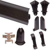 Plinthe goulotte PVC 59x2500 mm Wenge noir Lot de 4 - Wenge noir