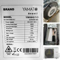 YAMATO Climatiseur réversible Inverter R32 WIFI 9000 BTU mono-split