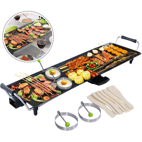 Electric Teppanyaki Table Top Grill Griddle BBQ Hot Plate Barbecue XXL 90*23CM