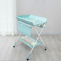 Baby Changer Unit Table Nursery Changing Station Bath Mat Foldable Space-Saving