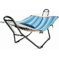Hammock Stand Heavy Duty Steel Frame Swing Holder Rack with Hooks and Chains