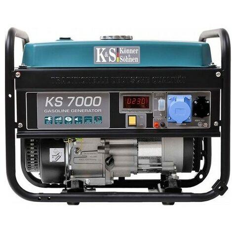 Könner & Söhnen Groupe électrogène essence 5500W KS 7000 - Bleu