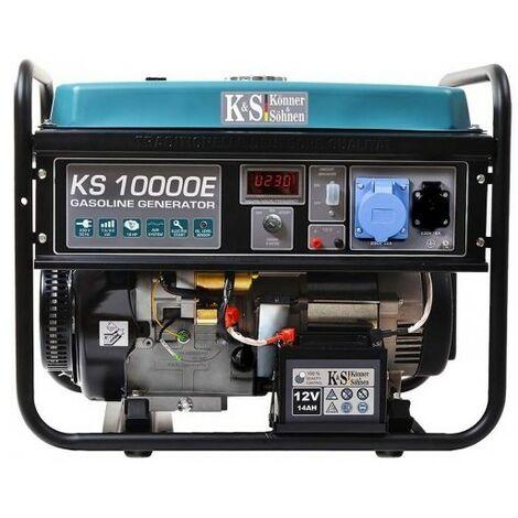 Konner & Sohnen groupe électrogène 8kW essence mono KS10000E - Bleu