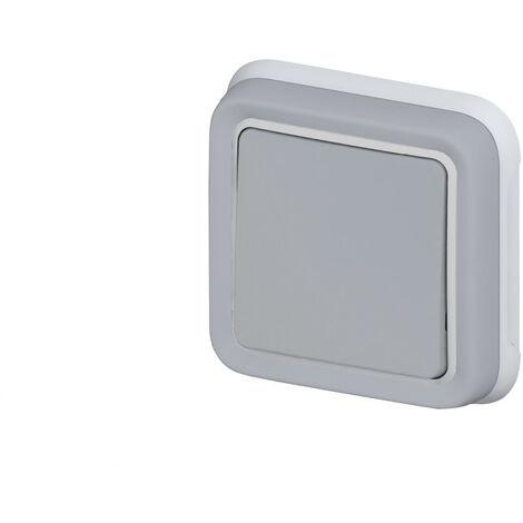 Interrupteur va-et-vient simple Legrand Plexo™ gris encastré