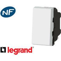 Interrupteur va-et-vient simple 1 module Legrand Mosaic composable