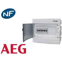 Tableau électrique pré équipé encastré 1 rangée à vis AEG