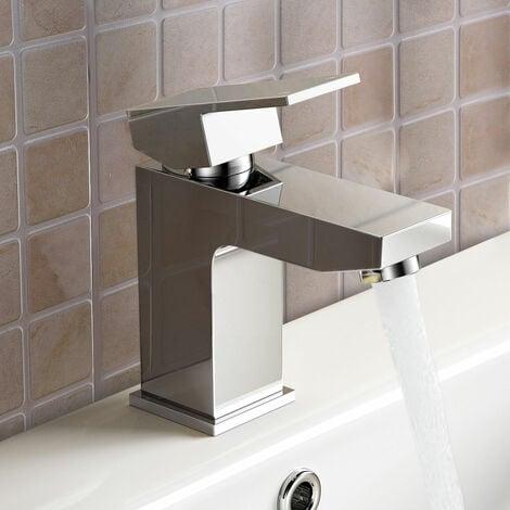 Leon Bathroom Basin Mixer Tap With Basin Waste Chrome