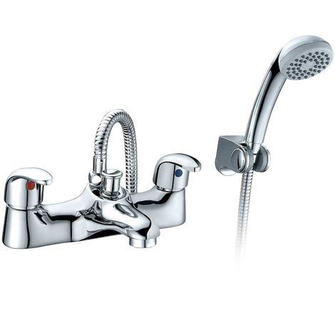 Alnore - Bath Shower Mixer Tap And Handset Complete Set