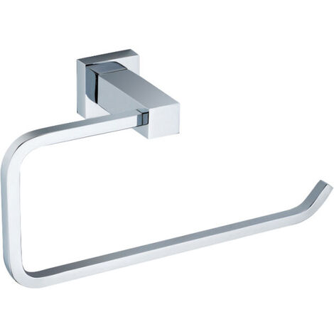 Modern Square Towel Ring Chrome