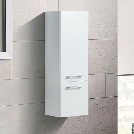 Lex 1000mm Wall Hung Storage Cabinet - White