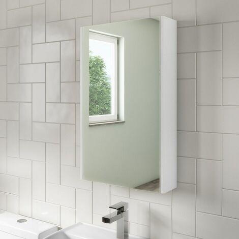 McCann 400mm Mirror Shaving Cabinet White