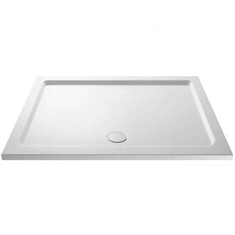 Slim 1500 x 800 Rectangular Stone Resin Shower Tray For Wetroom Enclosure