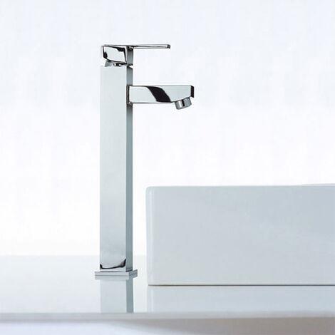 Riki Square Counter Top Bathroom Basin Mixer Tap Chrome