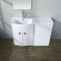 Dene LH 1100mm Vanity Basin Unit White