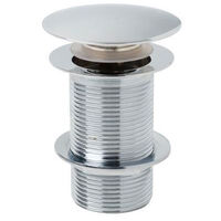 Push Button Unslotted Basin Waste Sprung Chrome