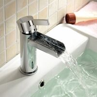 Windsor Basin Mono Mixer Waterfall Tap & Waste Chrome