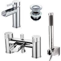 Windsor Bathroom Basin Mixer & Bath Shower Mixer Tap Chrome