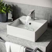 Leven 385 x 385mm Cloakroom Square Counter Top Basin Sink
