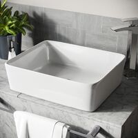 Leven Cloakroom Rectangle Counter Top Basin Bowl